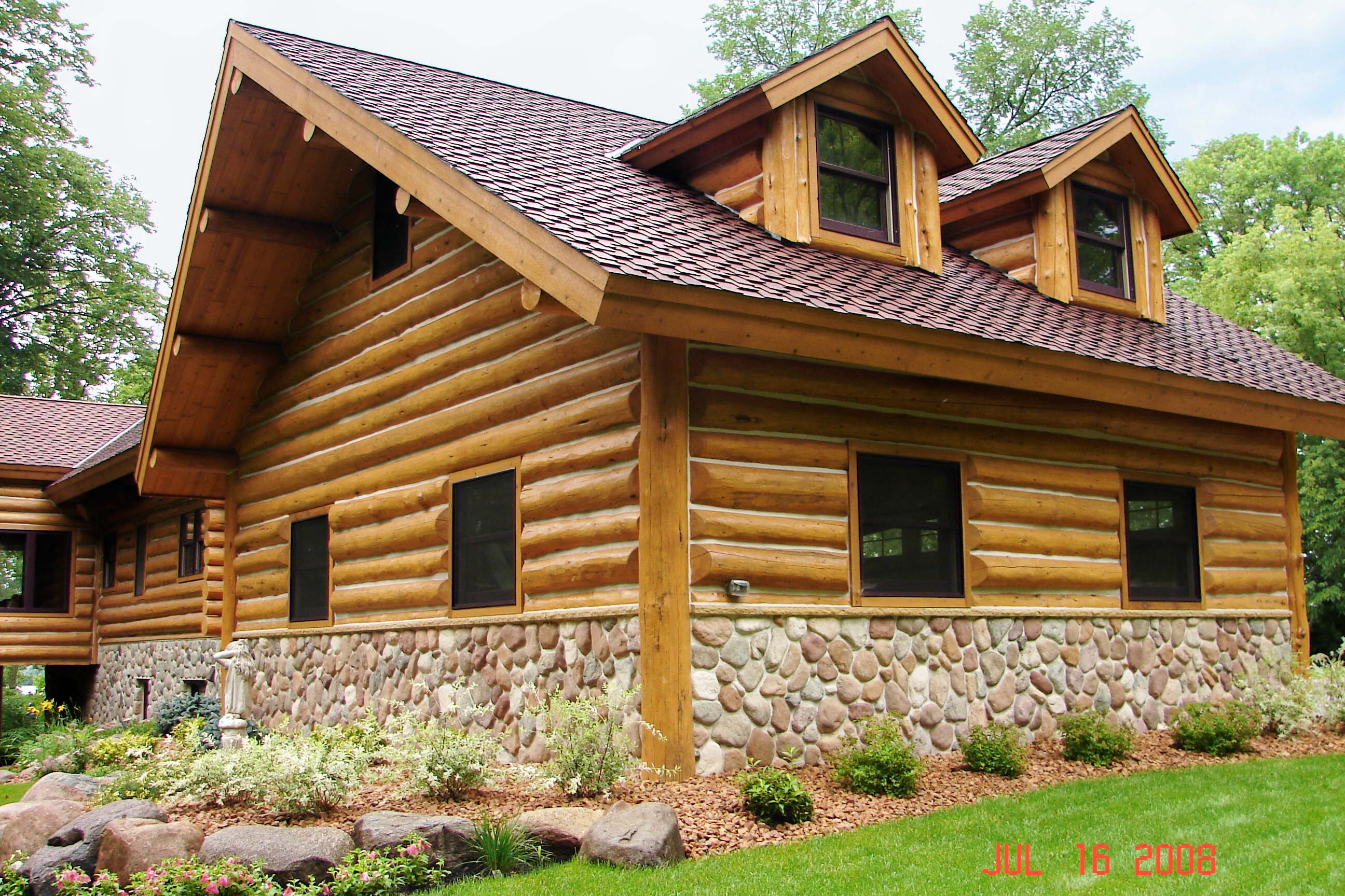 Log Siding Rustic Dreams